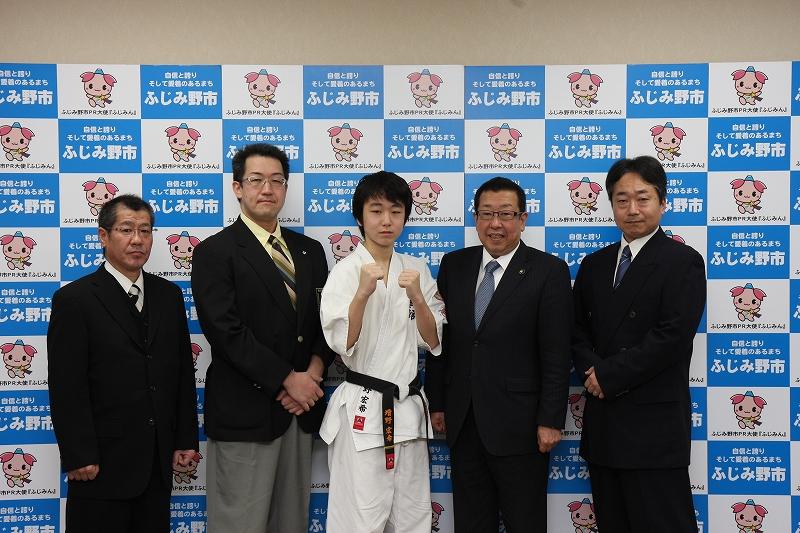 増野宏希君がふじみ野市、高畑博市長に表敬訪問をしました